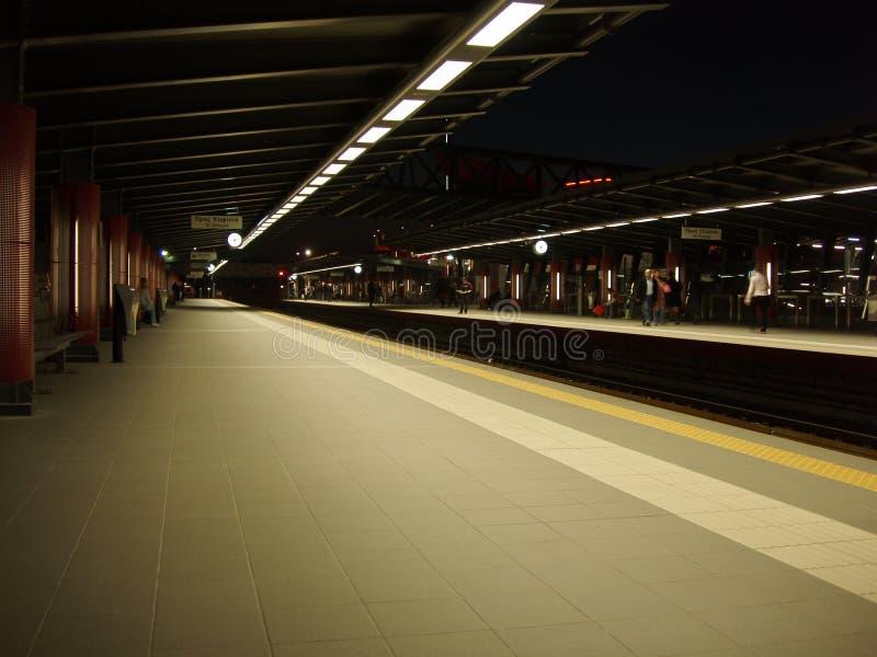 Athens metro station. Neratziotisa metro station of Athens, Greece. Night photo royalty free stock images