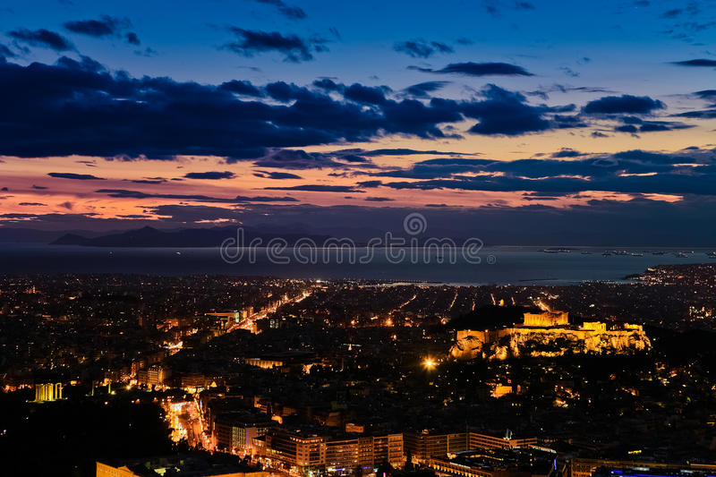 Download Athens at night stock image. Image of greek, ruin, landscape - 25686973