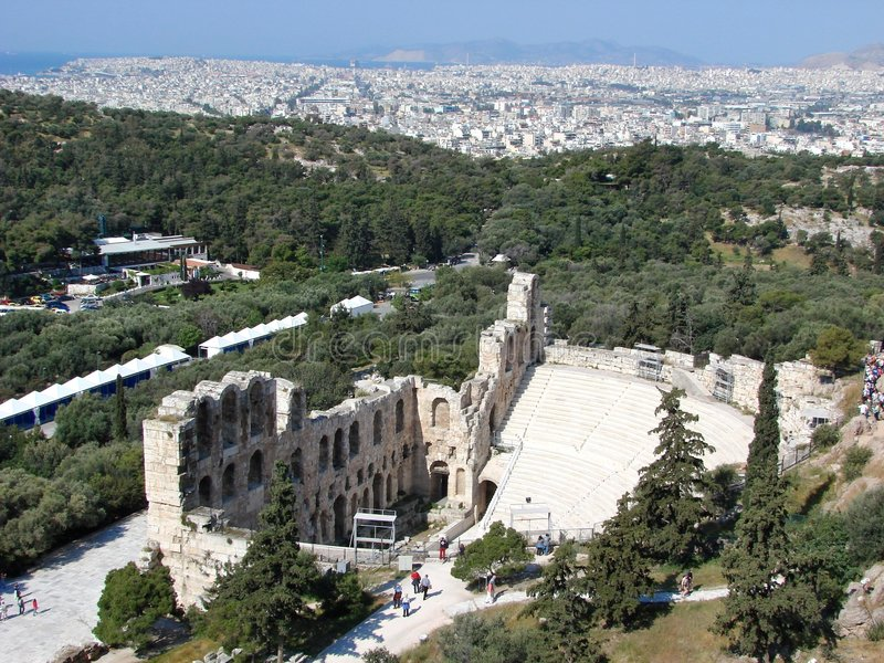 Athens, Odeon of Herodes Atticus royalty free stock image