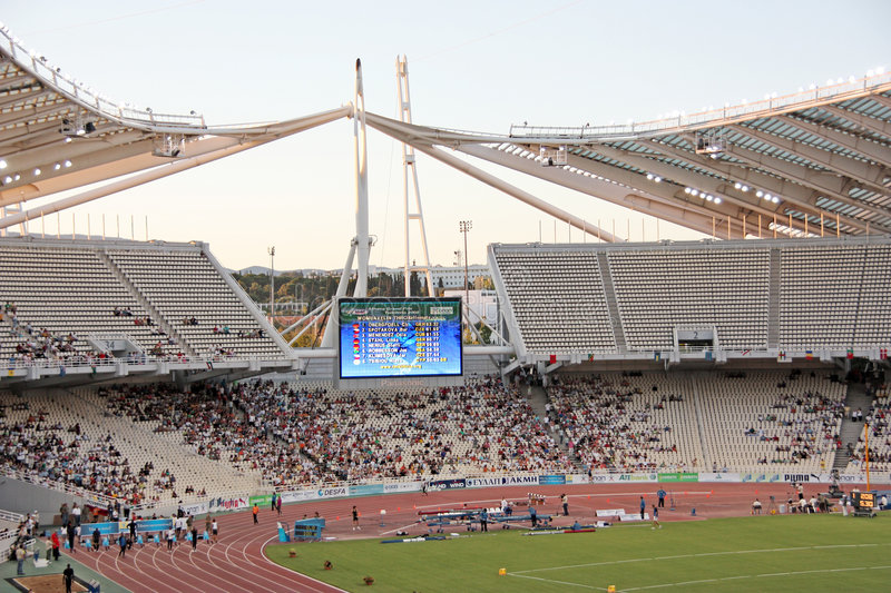 Download Athens Olympic Stadium During Event Editorial Stock Photo - Image of sports, field: 5745268