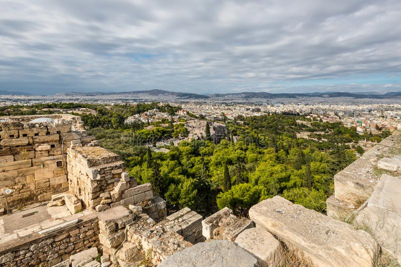 athens panorama Greece fotografia stock