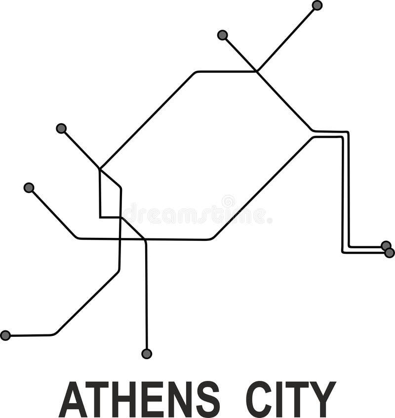 Subway Map Athens.Athens Map Stock Illustrations 1 528 Athens Map Stock