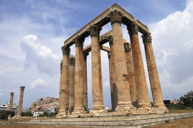 Download Athens tempelzeus fotografering för bildbyråer. Bild av historia - 19782555