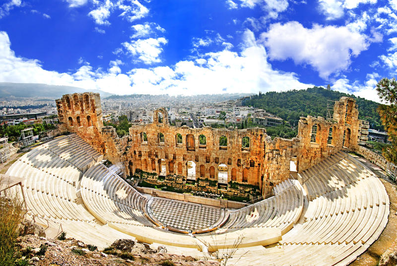 Athens Theater Stock Photography