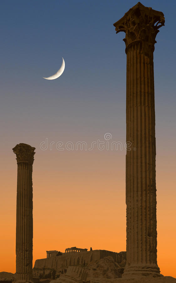 Athens At Twilight Stock Image