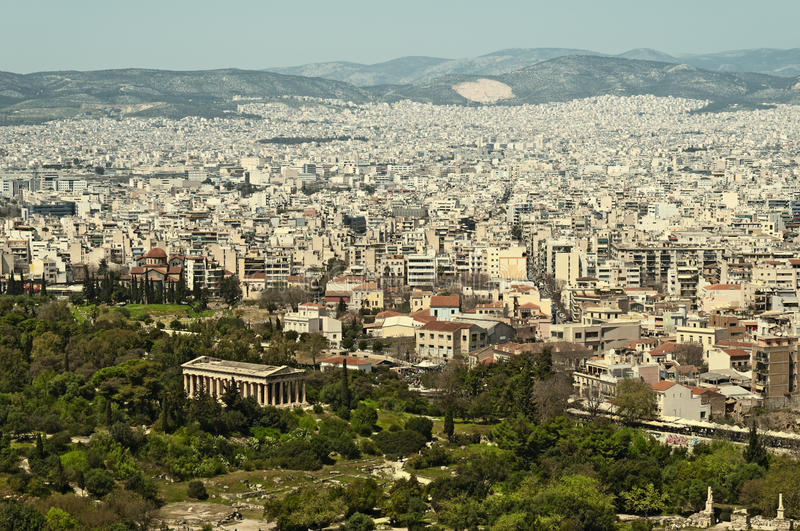 Athens View Royalty Free Stock Photography