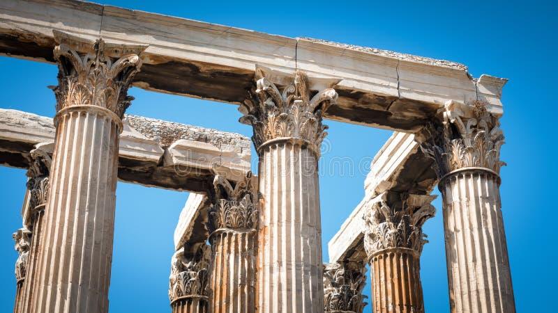 athens zeus świątynny Greece obraz stock