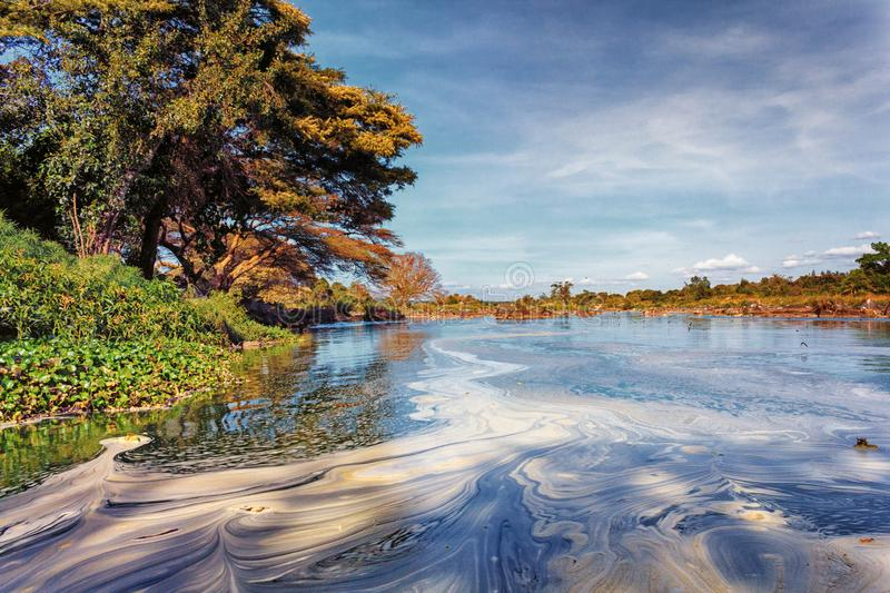 Athi River in Kenya. View of the waters of Athi River in Thika, Kenya. The Athi River is Kenya`s second longest river royalty free stock images
