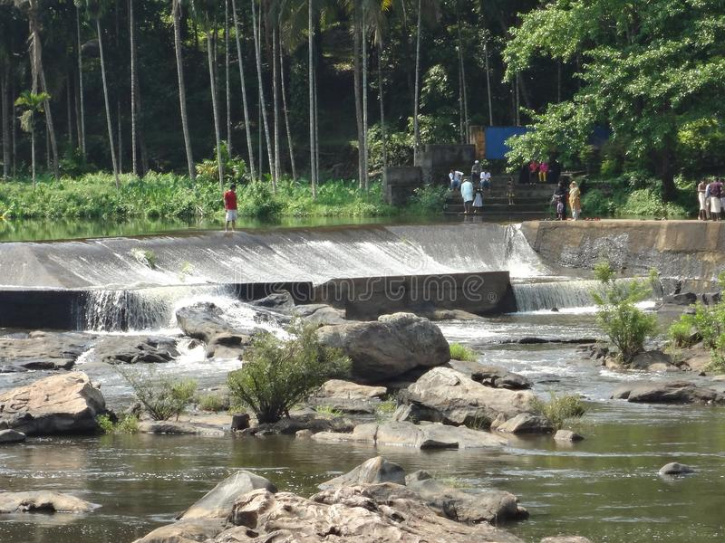 Athirapilly vattenfall royaltyfria foton