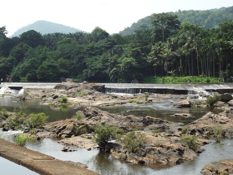 Athirapilly vattenfall royaltyfria bilder