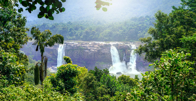Athirappilly water falls. Thrissur district, Kerala state, India stock images