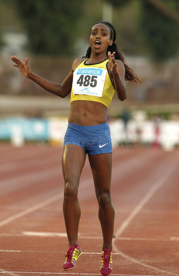 Athlète éthiopien Genzebe Dibaba photos libres de droits