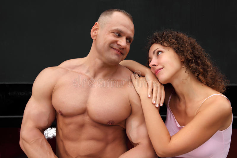 Athlète et jeune femme photos stock