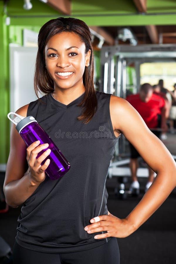 Athlète féminin photo stock