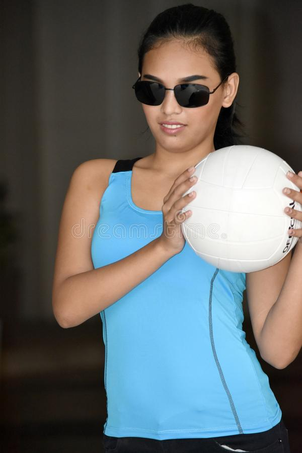 Athlète féminin Wearing Sunglasses photos stock