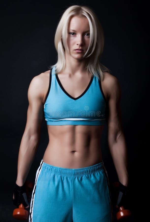 Athlète fatigué en gymnastique image libre de droits