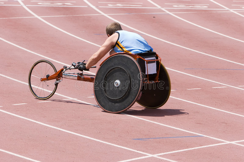 Athlète handicapé image stock