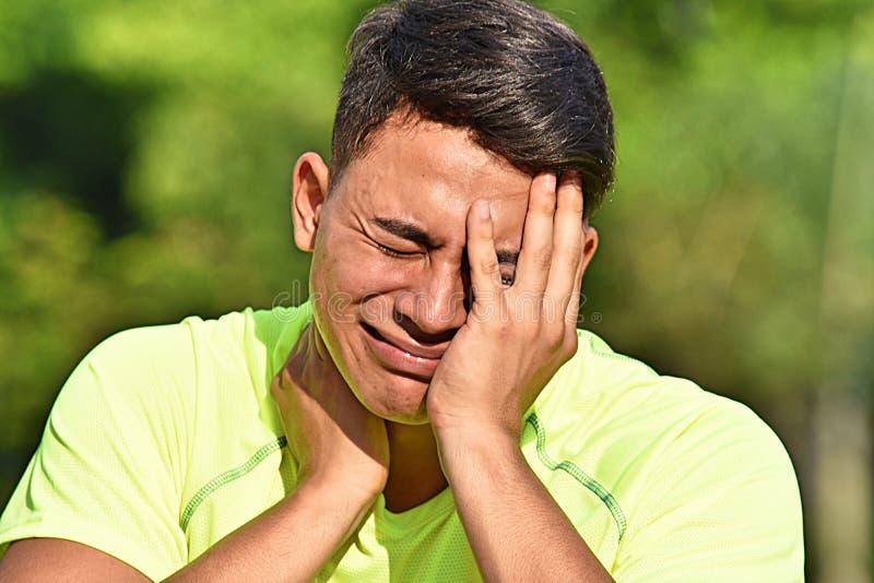 Athlète masculin And Anxiety photo libre de droits