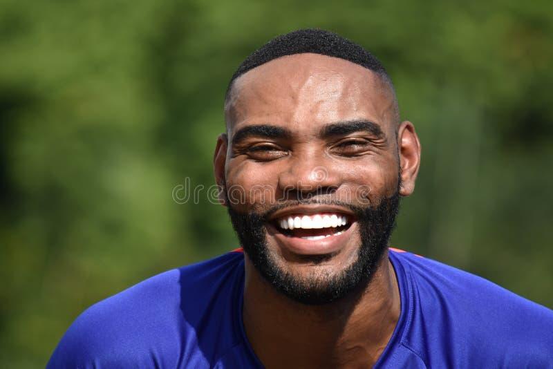 Athlète masculin convenable de sourire photos libres de droits