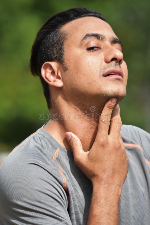 Athlète masculin With Sore Throat photos stock