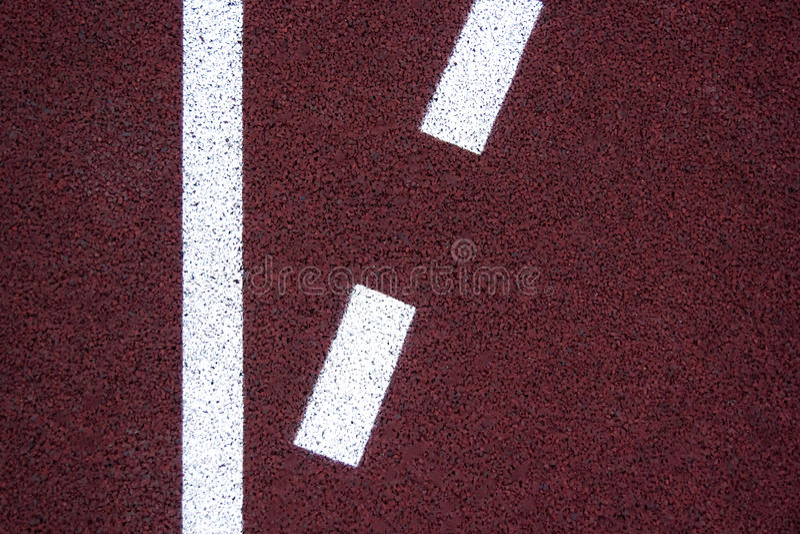 Athlète Track ou fonctionnement avec scénique gentil images stock
