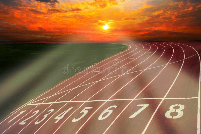 Athlète Track ou voie courante avec scénique gentil photos libres de droits