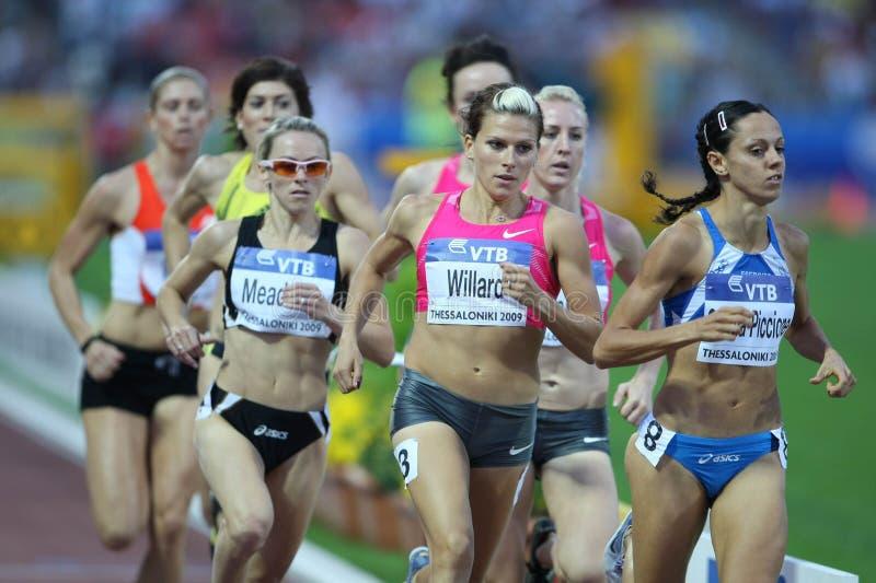 Athlètes féminins 800m finaux photos libres de droits