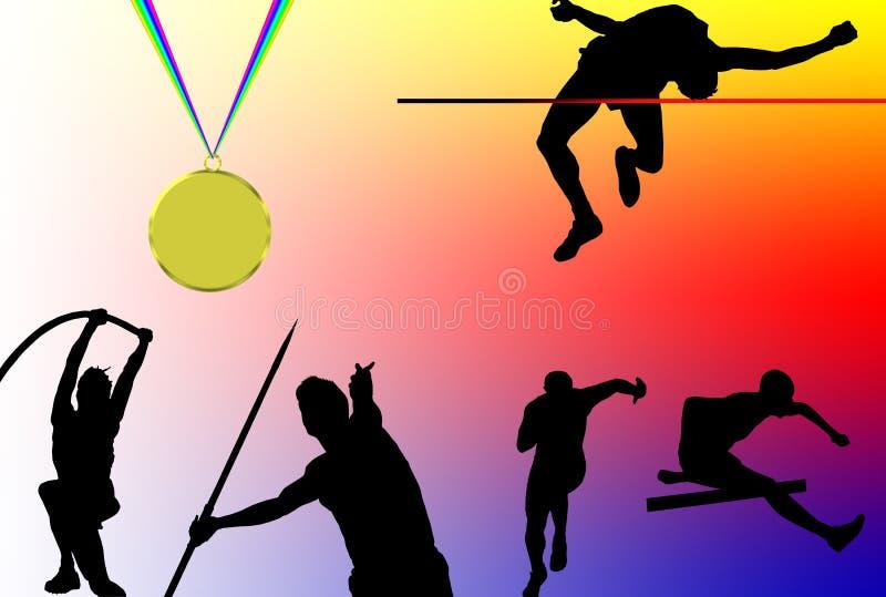 Athlétisme illustration de vecteur