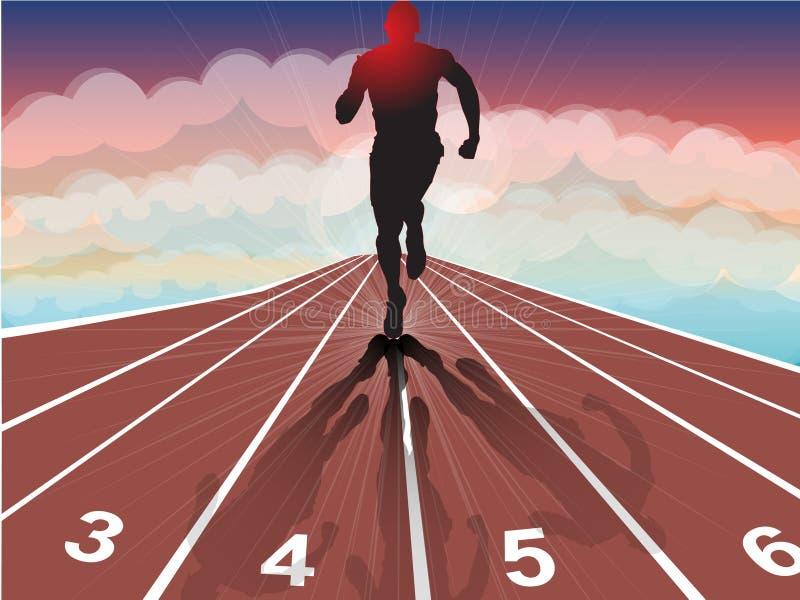 Athlétisme illustration stock