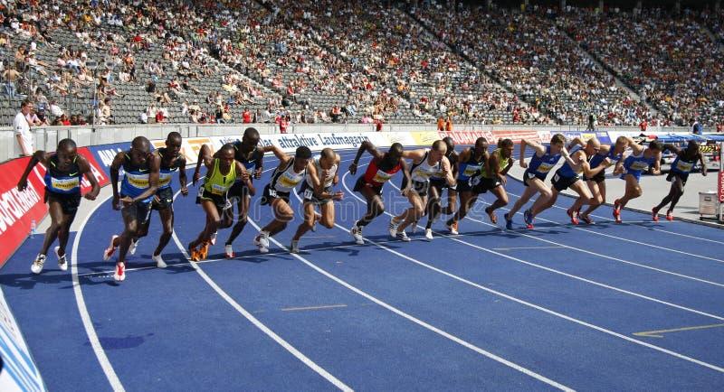 Athlétisme d'or international de ligue d'Istaf Berlin image libre de droits
