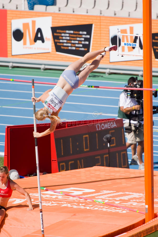 Athlétisme de chambre forte de Pôle photographie stock