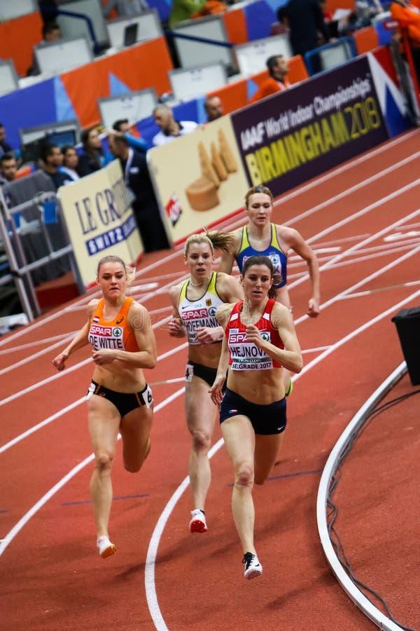 Athlétisme - femme de 400m photos stock