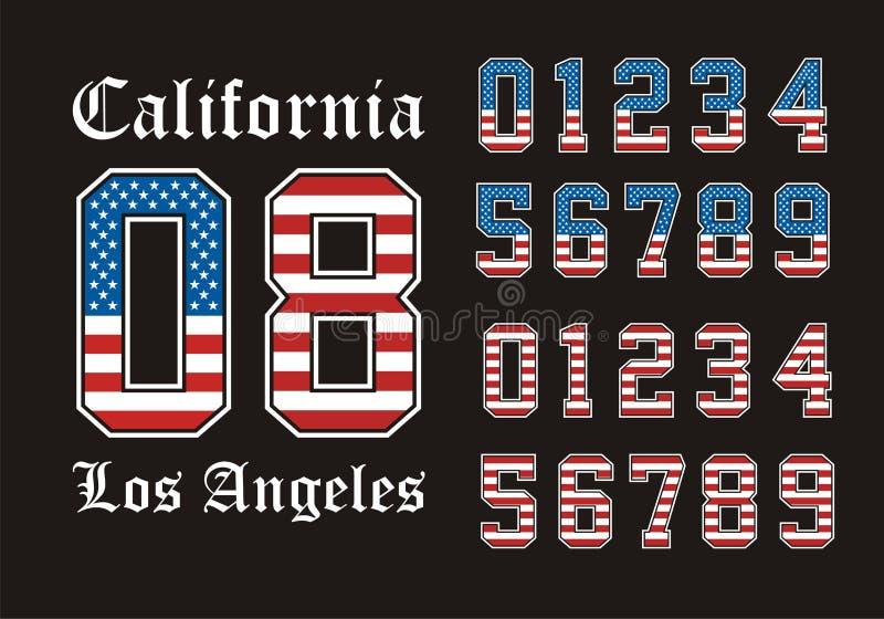 Athlétisme la Californie illustration libre de droits