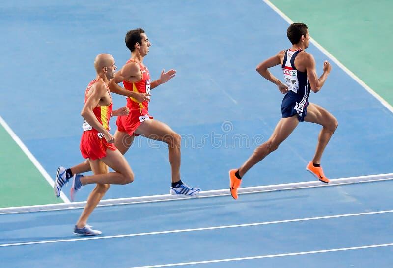 Athlétisme 1500 mètres image stock