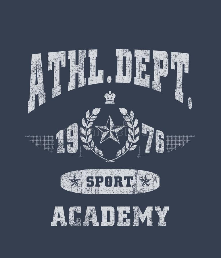 "?athl service ""typographie, graphiques sportifs de tee-shirt illustration stock"