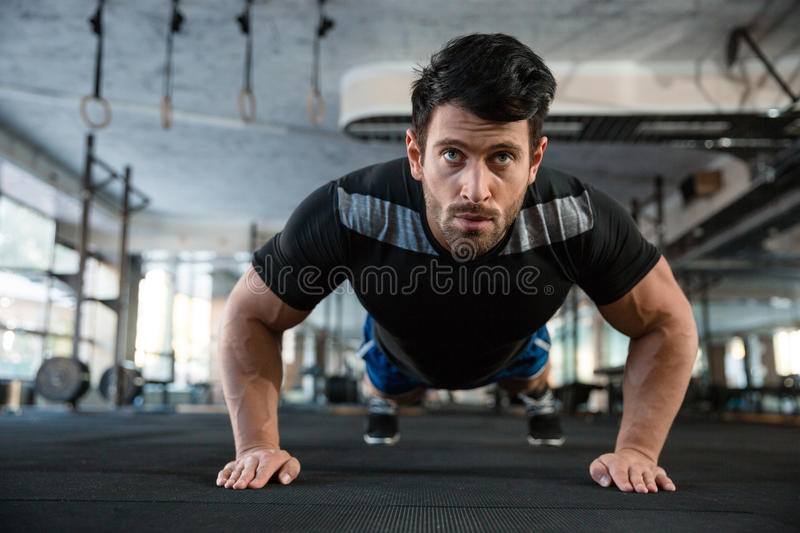 Athlet on the training stock photos