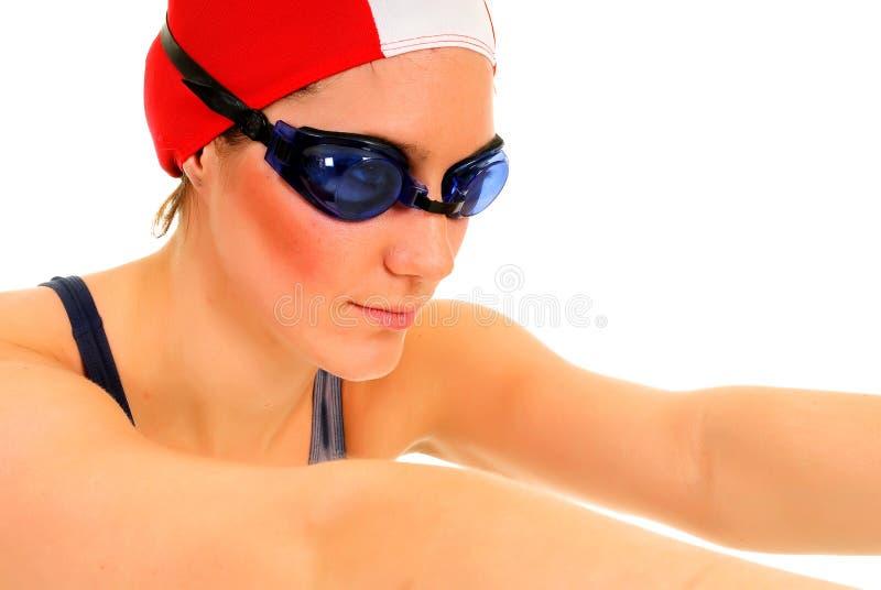 Athlet, weiblicher Schwimmer lizenzfreie stockbilder