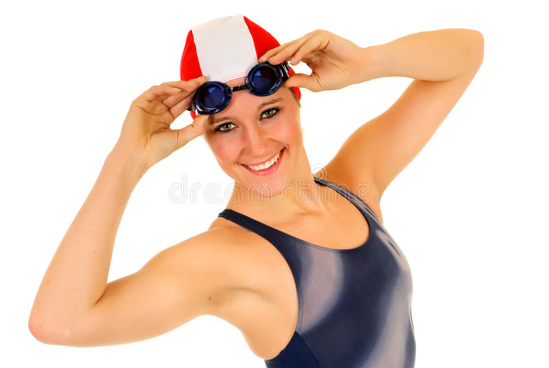 Athlet, weiblicher Schwimmer stockfoto