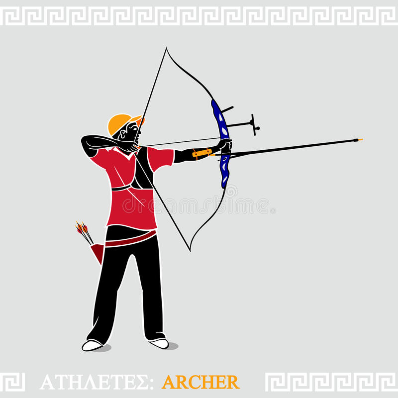 Download Athlete Archer stock vector. Image of athlete, shooting - 25139760