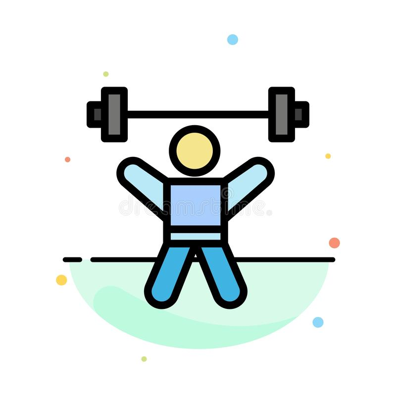 Athlete, Athletics, Avatar, Fitness, Gym Abstract Flat Color Icon Template vector illustration