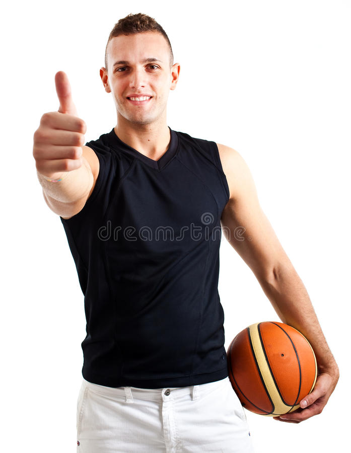Athlete with basket ball