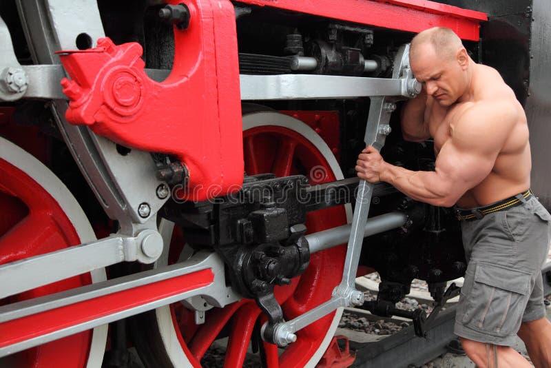 Download Athlete Checks Locomotive Condition Stock Image - Image of fashioned, check: 11411533
