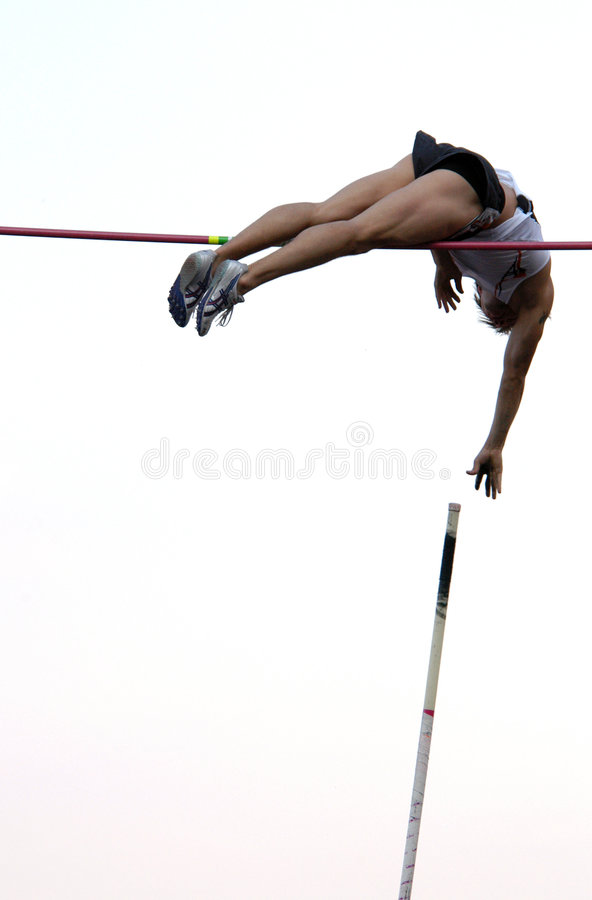 Free Athlete Clearing The Bar Royalty Free Stock Photo - 368425