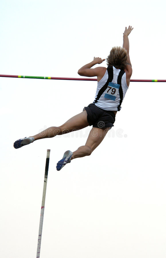 Free Athlete Clearing The Bar Royalty Free Stock Image - 368426