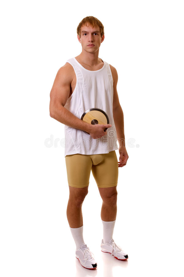 Athlete With Discus Royalty Free Stock Image