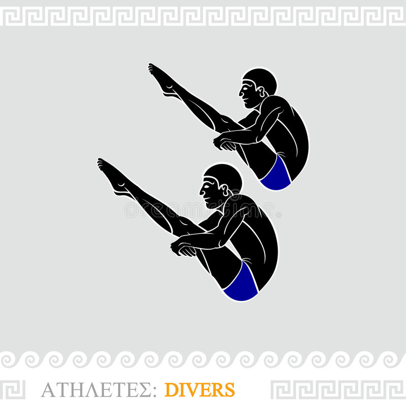 Athlete Divers Royalty Free Stock Photography