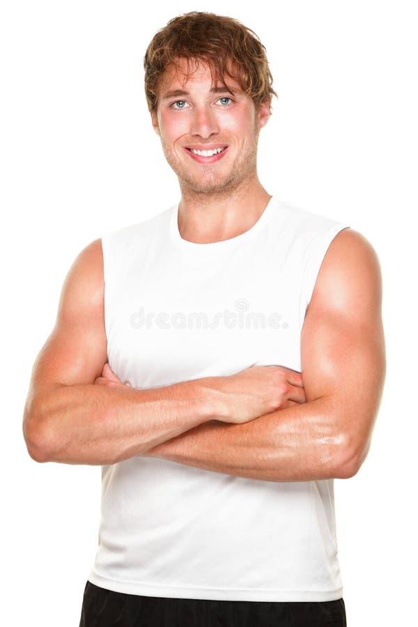 athlete fitness man white στοκ εικόνες