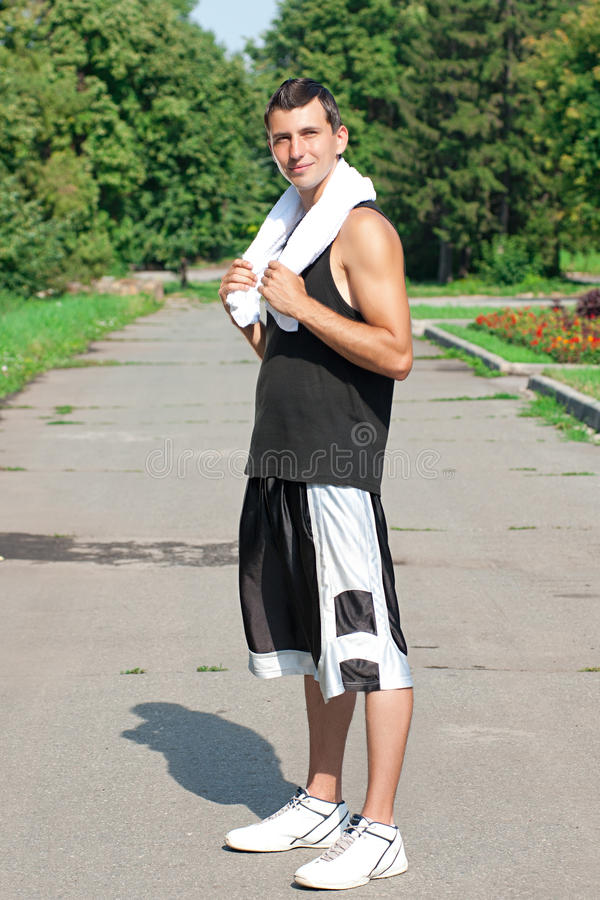 Download Athlete Have A Rest After Jogging Stock Photos - Image: 20620263