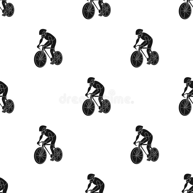 An athlete with a helmet riding his bike on the field.Cycling.Olympic sports single icon in black style vector symbol. Stock web illustration vector illustration