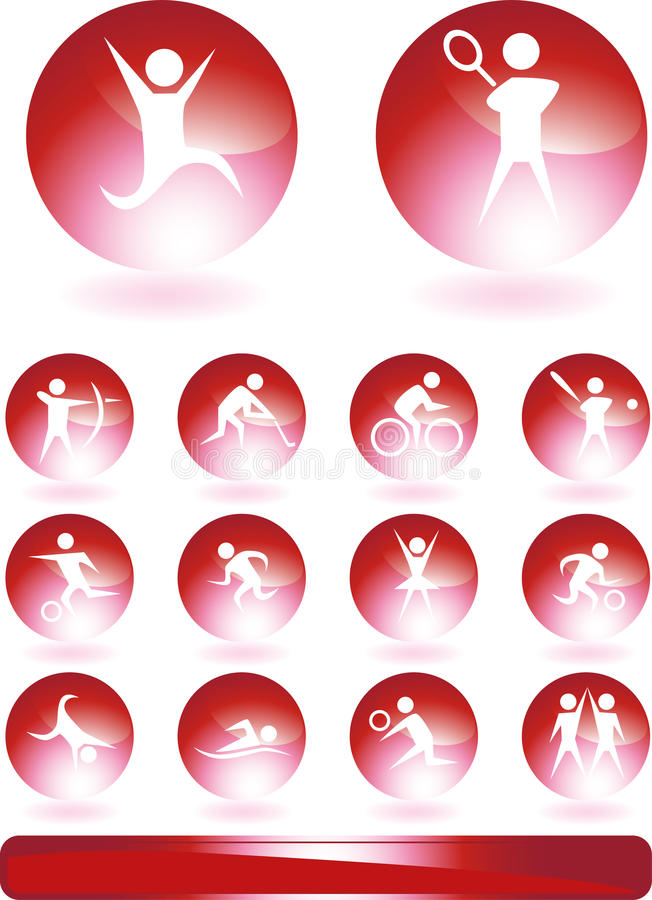 Athlete Icons vector illustration